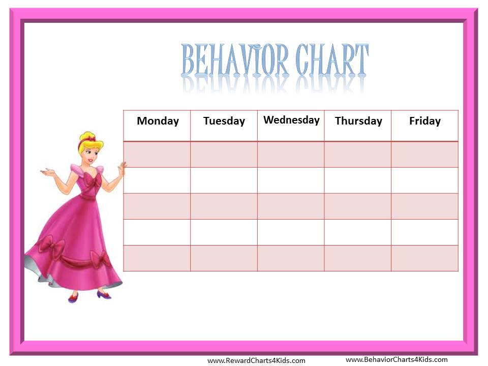 8 Images of Printable Behavior Charts