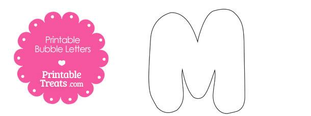 Best Images of Free Printable Bubble Letter M - Printable Bubble ...