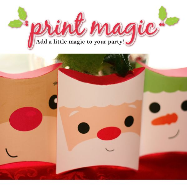 6 Images of Christmas Pillow Box Printables