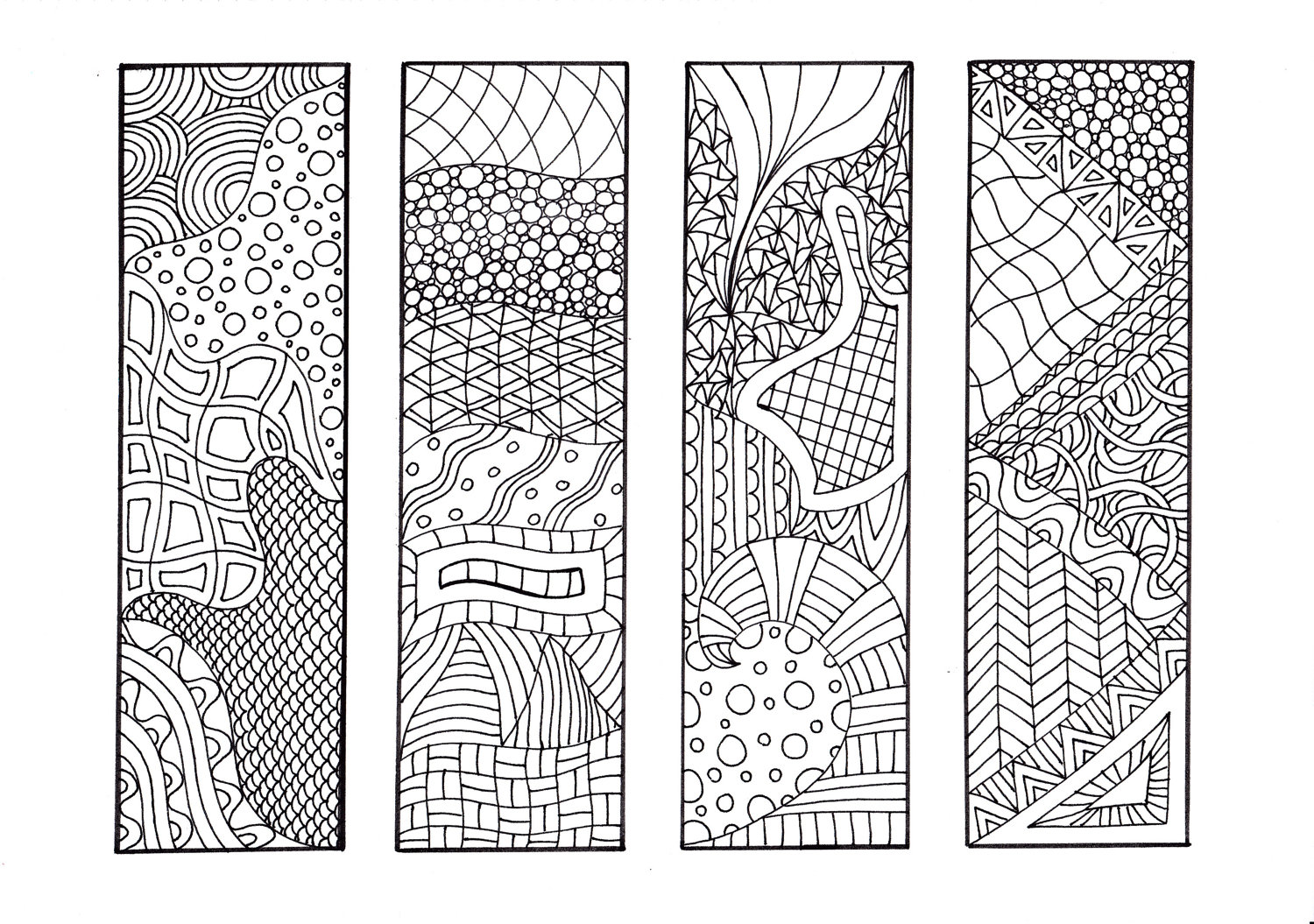 8 Images of Zentangle Bookmark Printable