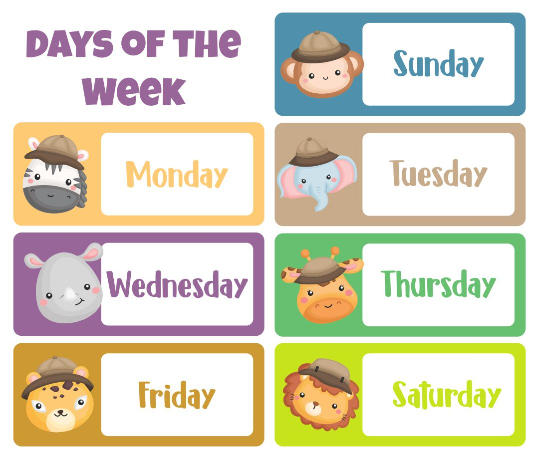 Printable Days of the Week Templates