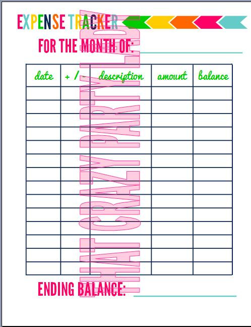 ... Tracker, Printable Monthly Expense Tracker & Printable Expense Tracker