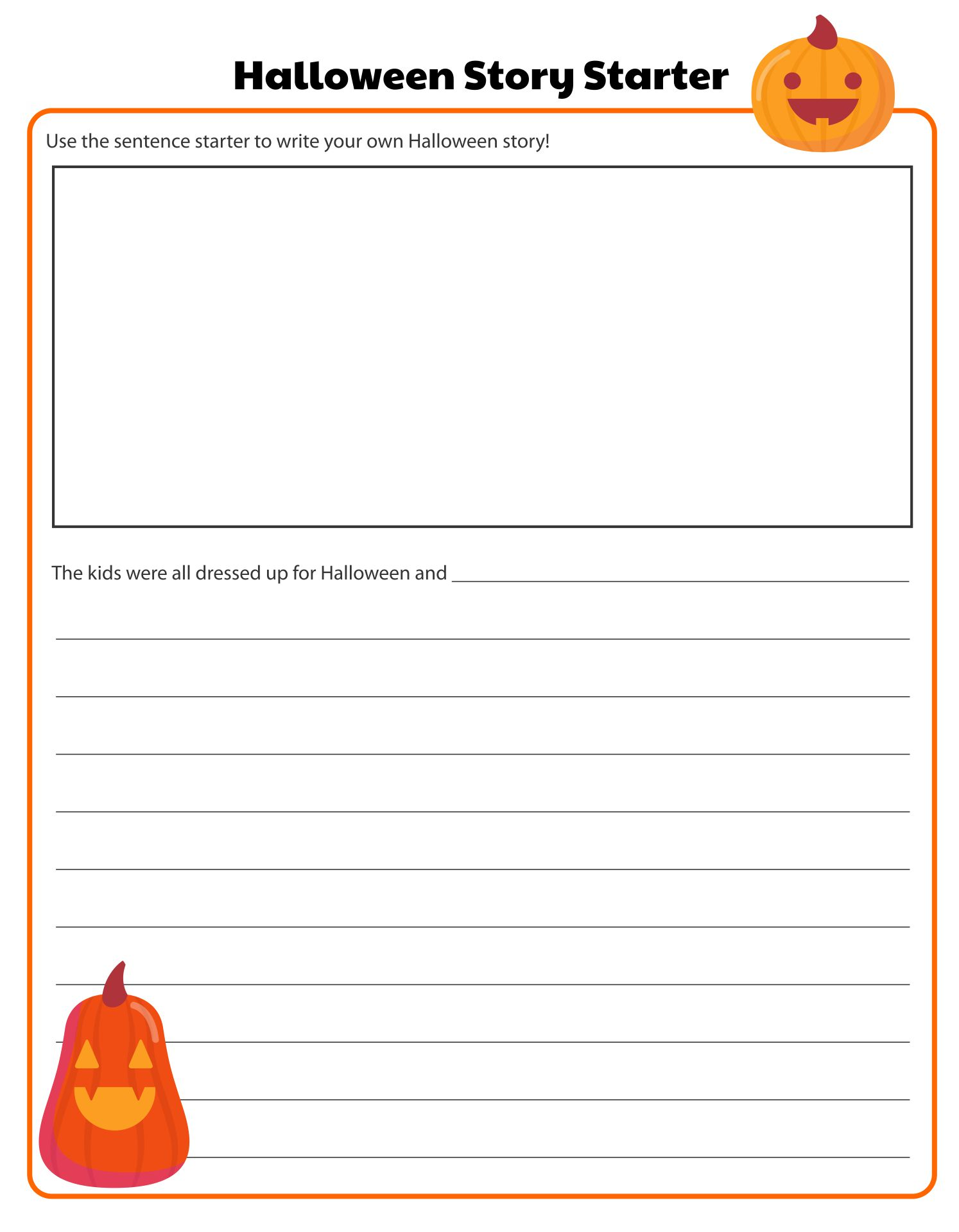 Printable Halloween Story Starters