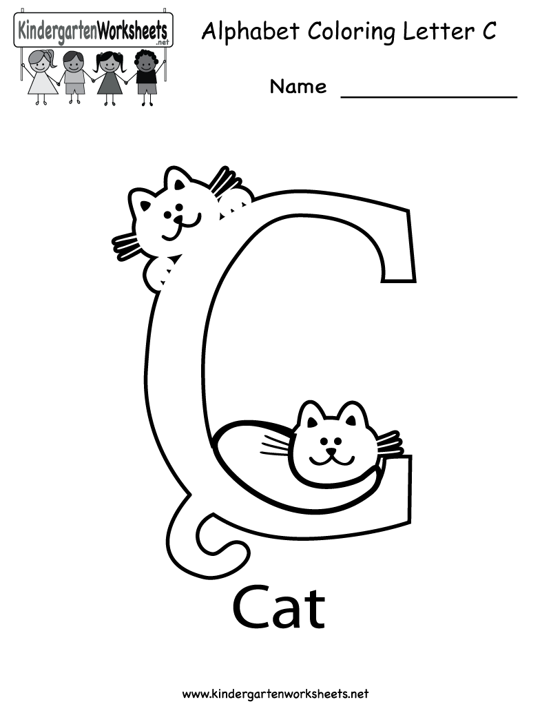 math worksheet : 6 best images of free printable alphabet letter c worksheets  : Alphabet Kindergarten Worksheets