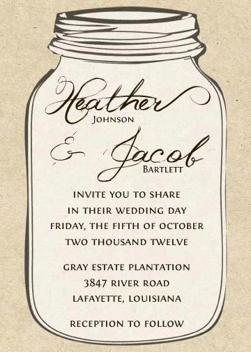 6 Images of Free Printable Mason Jar Invitation Template