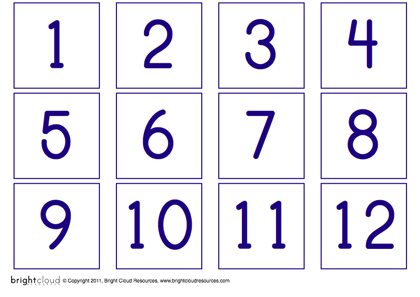 6 Images of Large Printable Numbers From 11-20