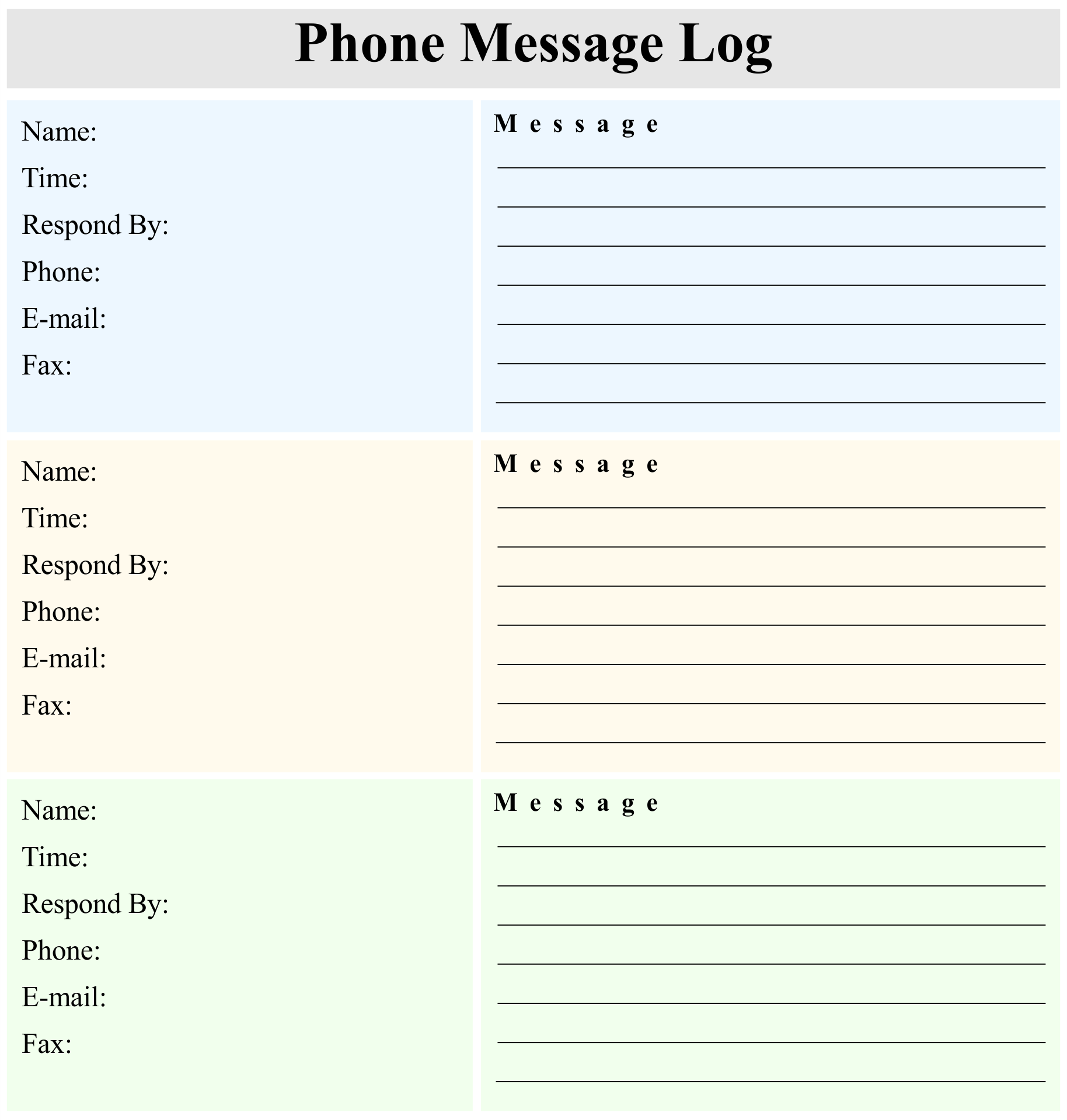 It's just an image of Free Printable Phone Message Template for template email microsoft