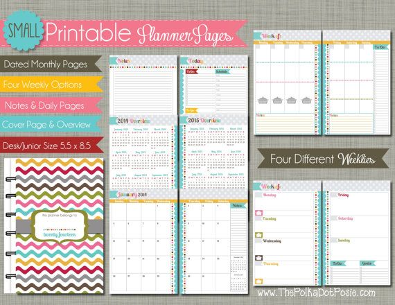 Printable Planner Calendar Pages