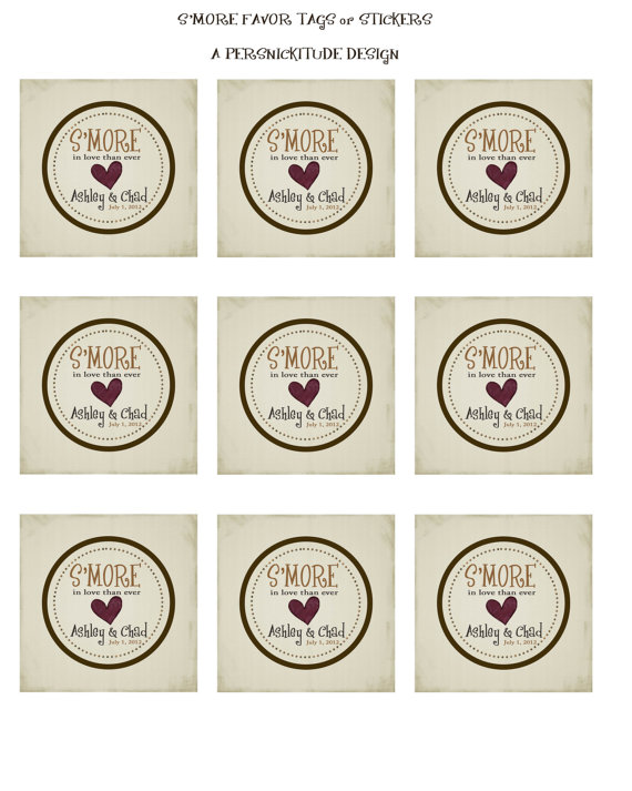 9 Images of S'more Printable Tags