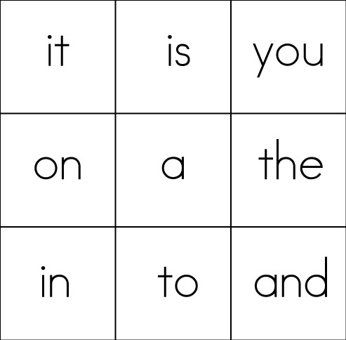 8 Images of Free Printable Sight Word Card Template