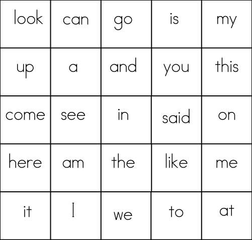bingo card template in word
