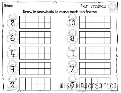 6 best images of printable ten frame worksheets blank for 10 frame template printable