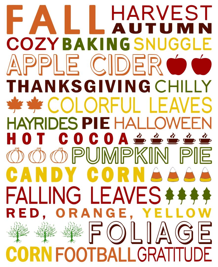 Printable Thanksgiving Subway Art Download