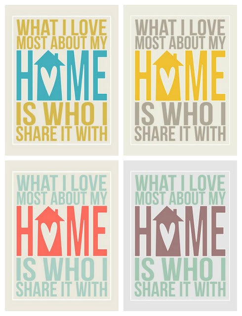 Printable What I Love Most About My Home