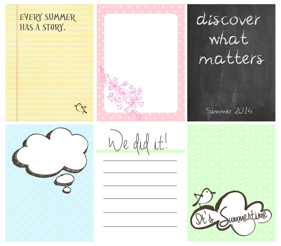 7 Images of Free Printable Project Life Journal Cards