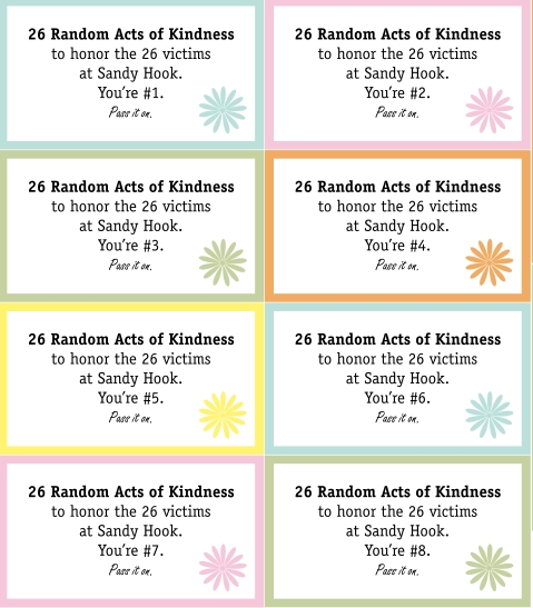 Best Images of Random Acts Of Kindness Printables - Christmas ...