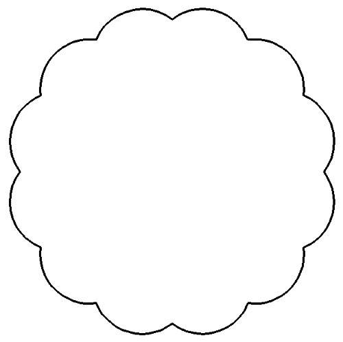9 Images of Printable Scalloped Circle