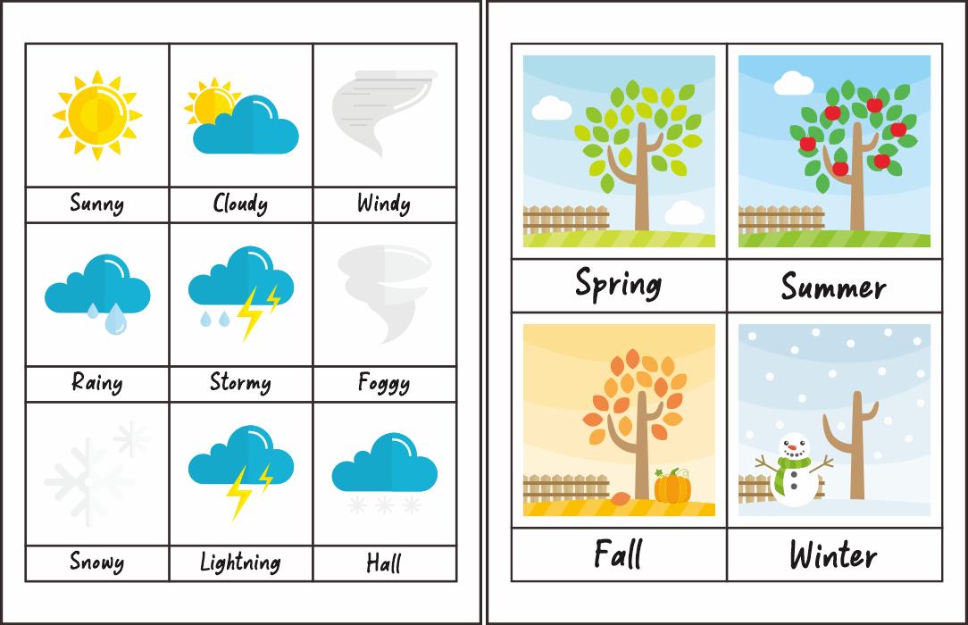 Seasons and Weather Printables