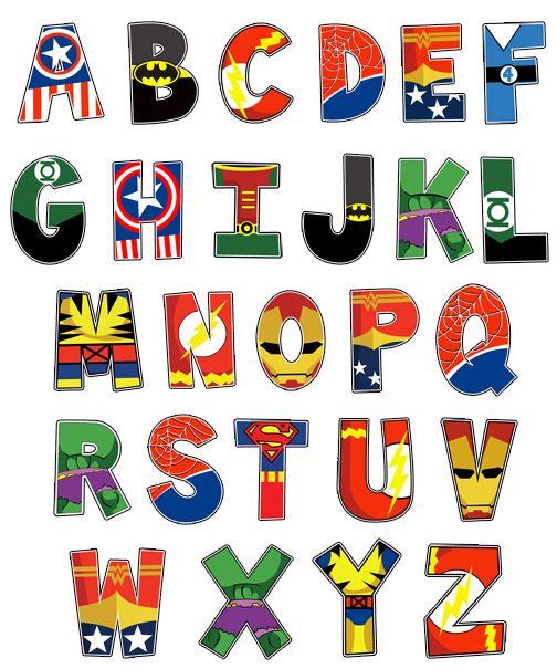 8 Images of Printable Superhero Letters