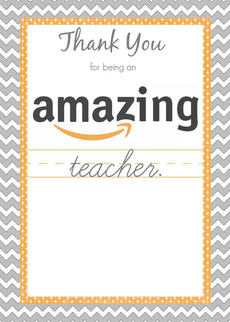 5 Images of Amazon Gift Card Teacher Printable