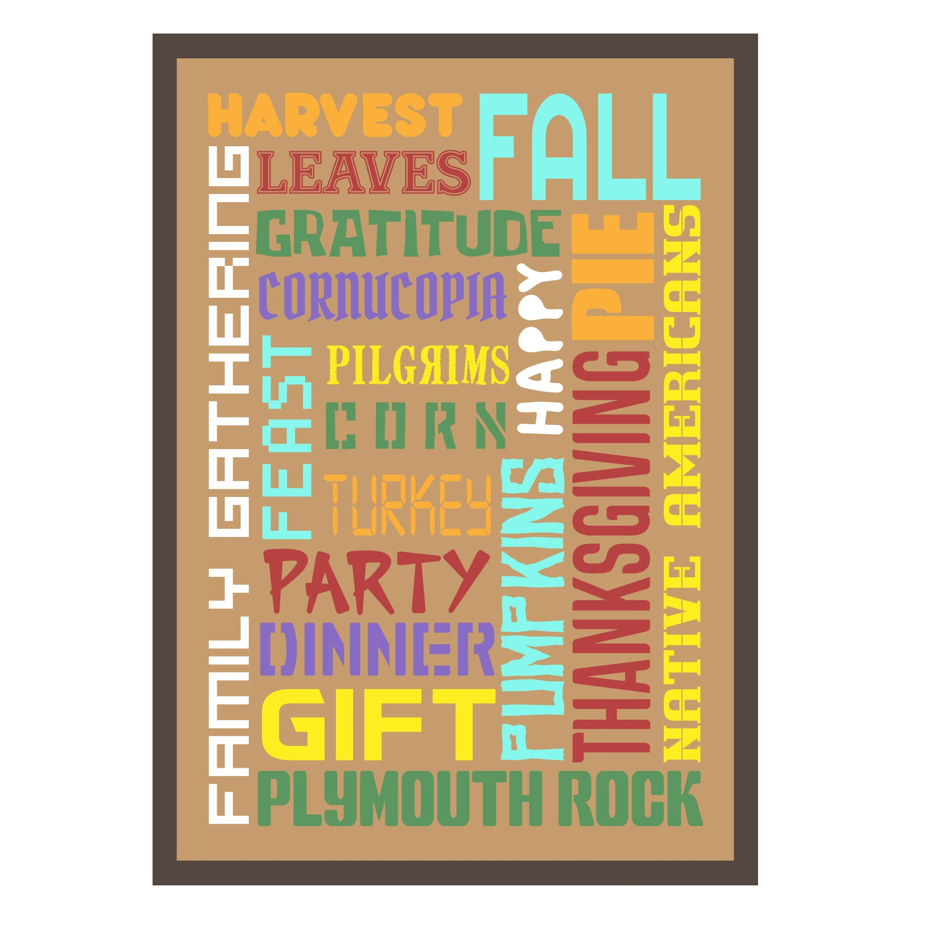 6 Images of Thanksgiving Subway Art Free Printable 5 X 7