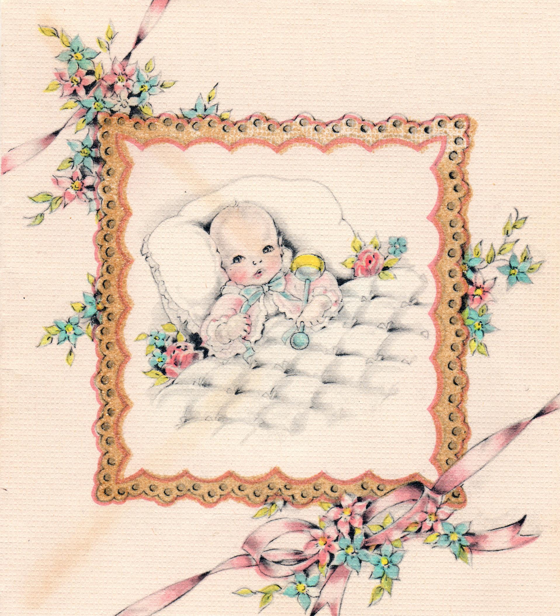 Vintage Baby Clip Art Free