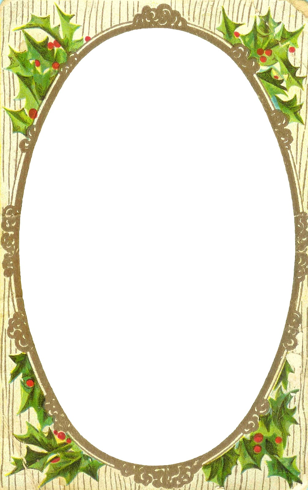 6 Images of Holiday Free Printable Frames