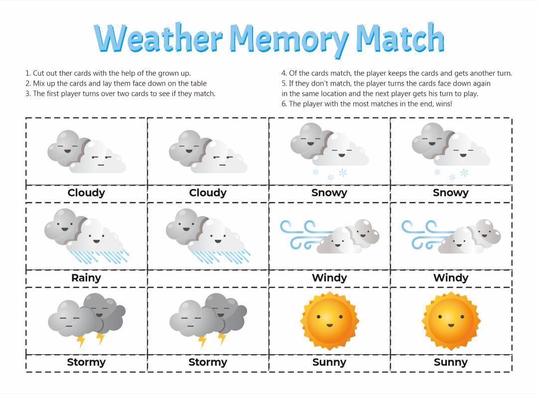 Weather and Seasons Worksheets Preschool