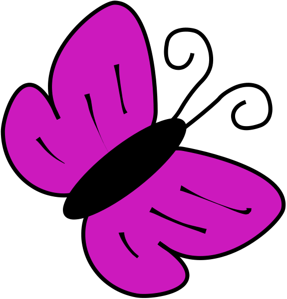 7 Images of Free Printable Purple Butterfly Clip Art