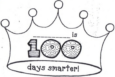 8 best images of 100 days of school free printables for 100th day of school crown template