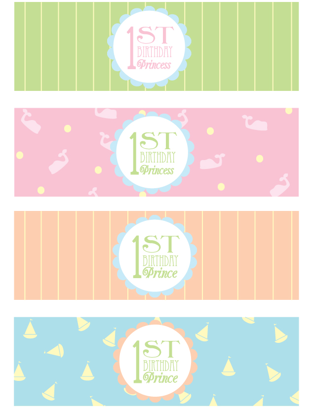 7 Images of Happy 1st Birthday Printables