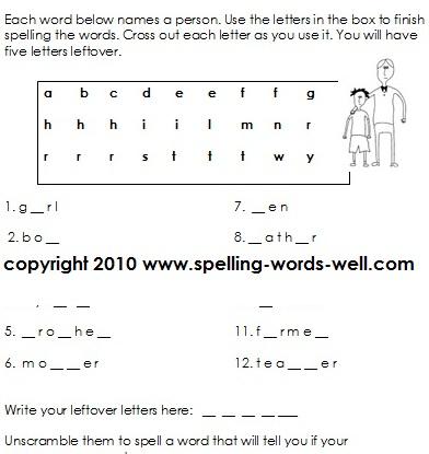 Number Names Worksheets free spelling worksheet : 8 Best Images of Free Printable Spelling Worksheets 2nd Grade ...
