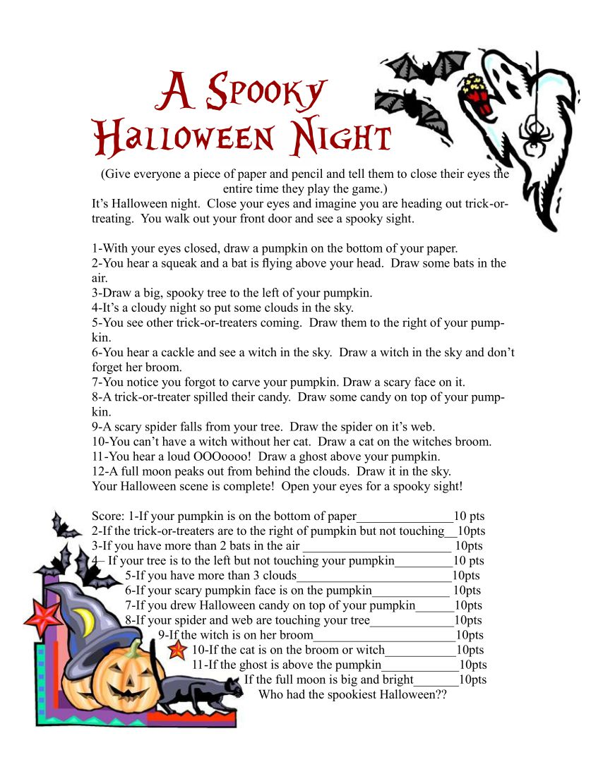 Adult Halloween Party Games Printable