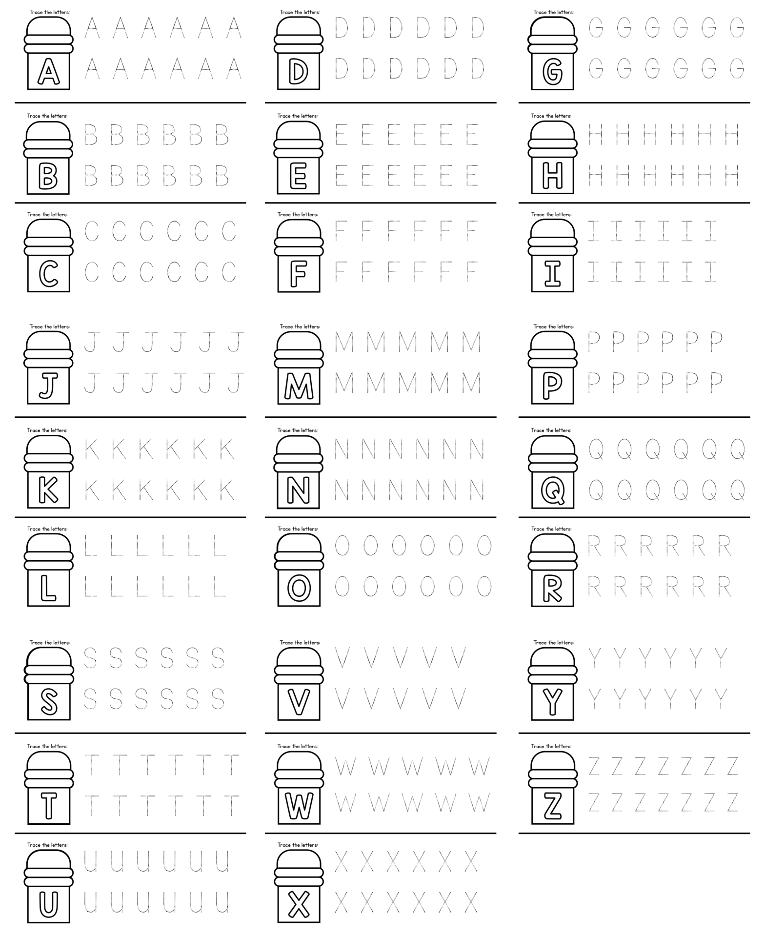 9 Images of Printable Alphabet Worksheets AZ