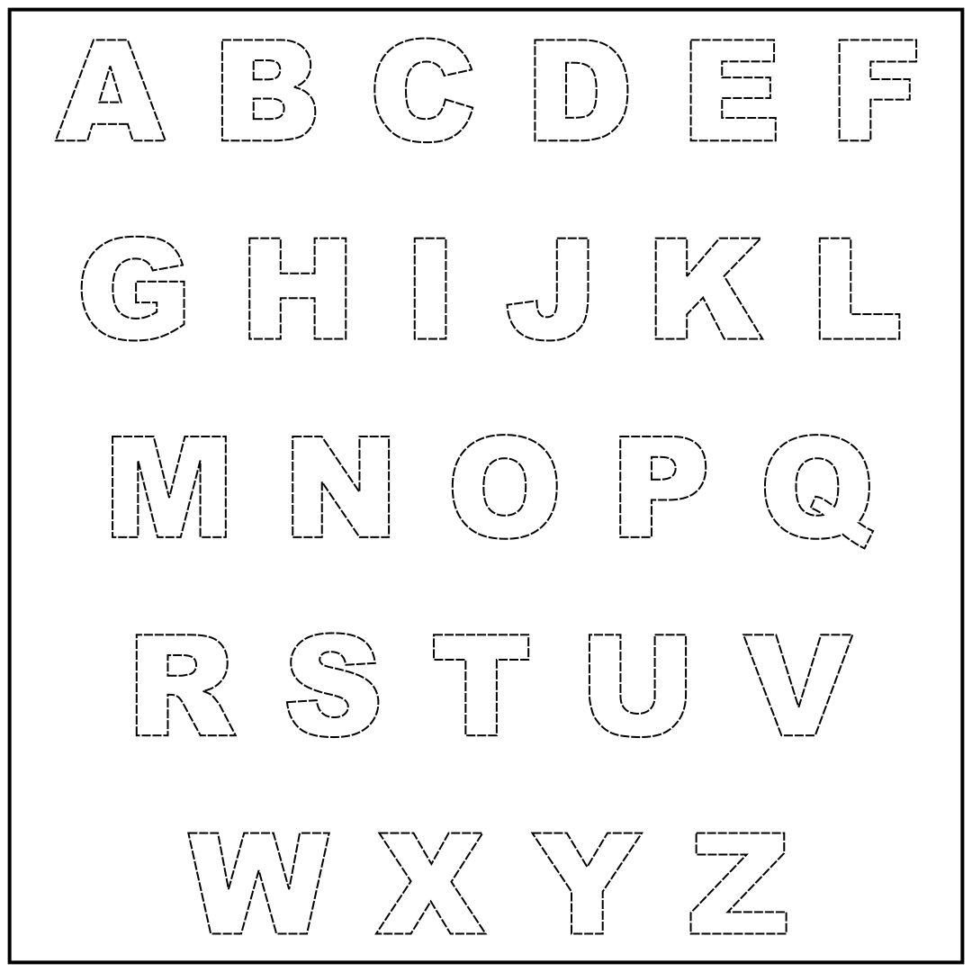 7 Images of Free Printable Alphabet Cut Outs