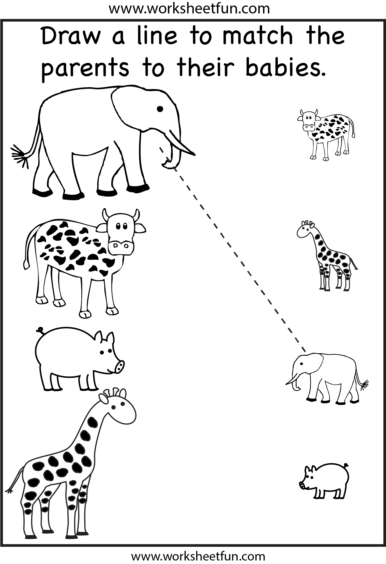 Animals and Preschool Worksheets
