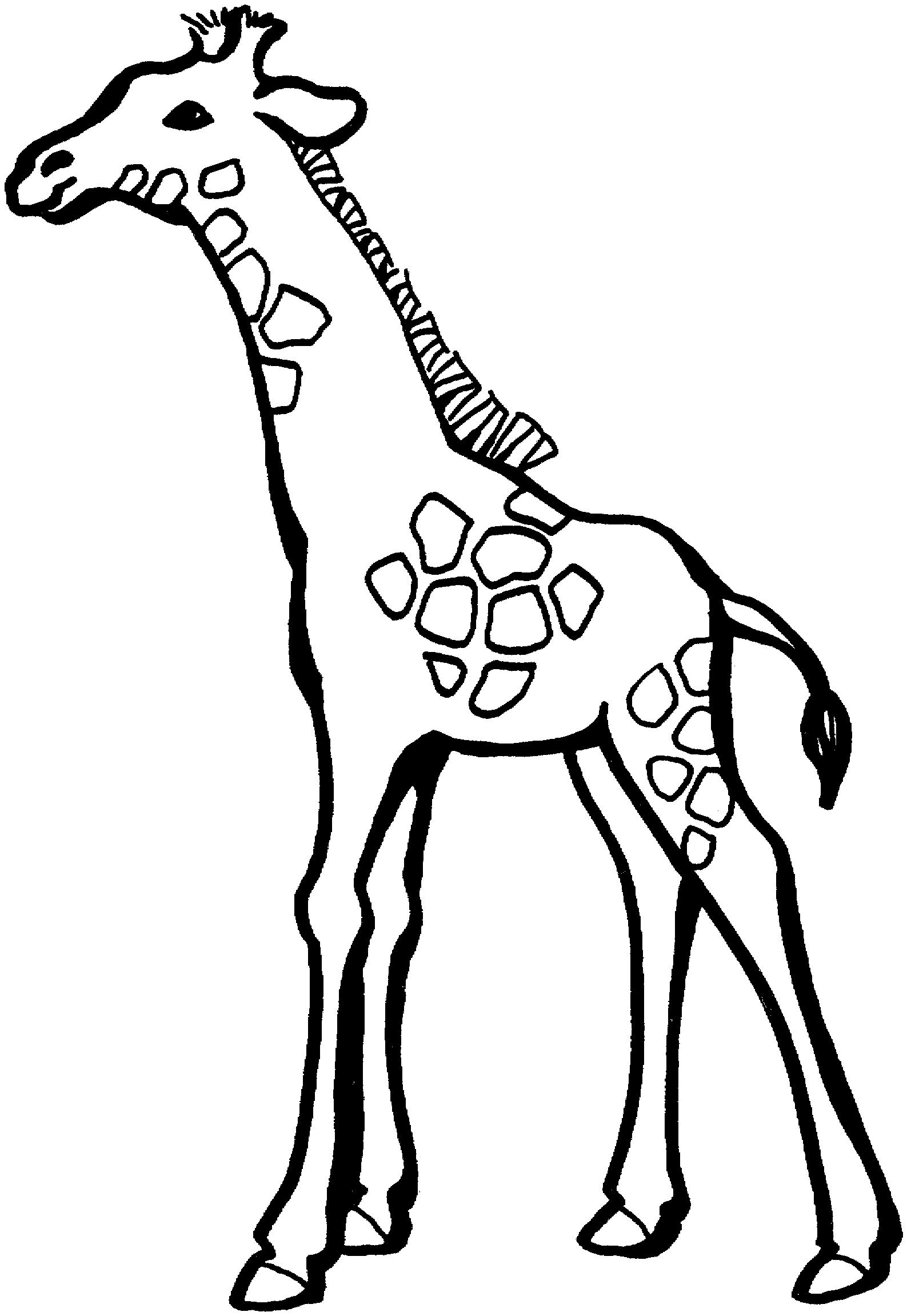 Baby Giraffe Coloring Pages Printable