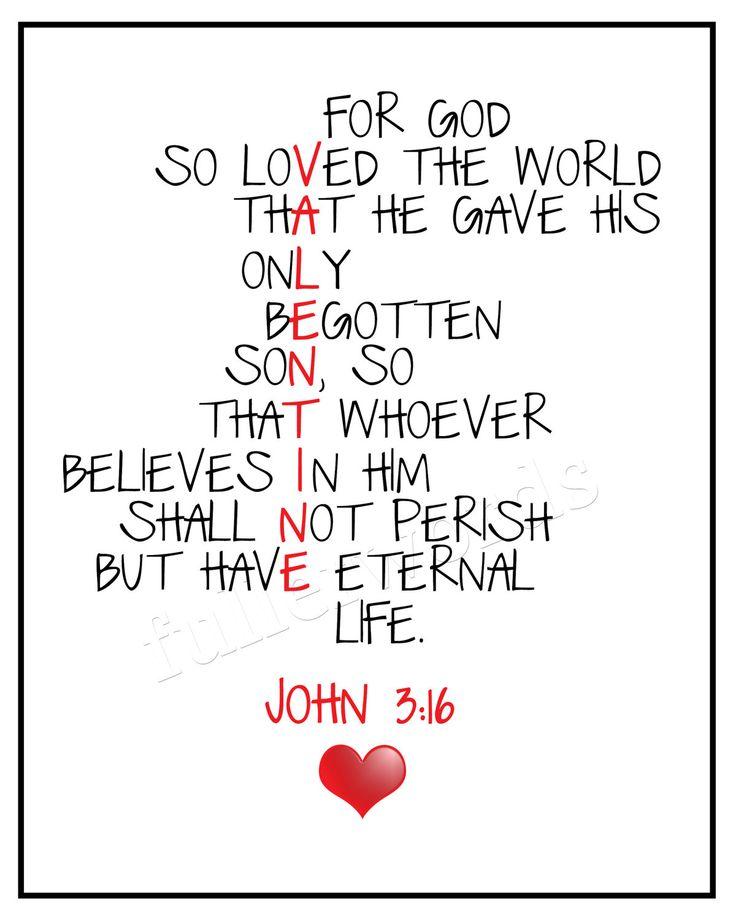 8 Images of Printable Verse John 3 16