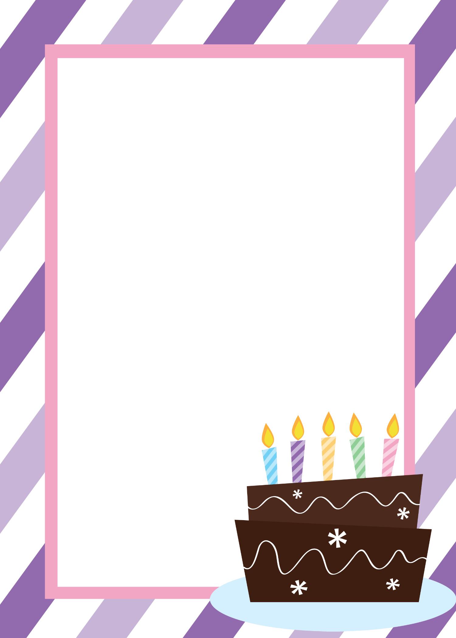 Blank Birthday Invitation Templates