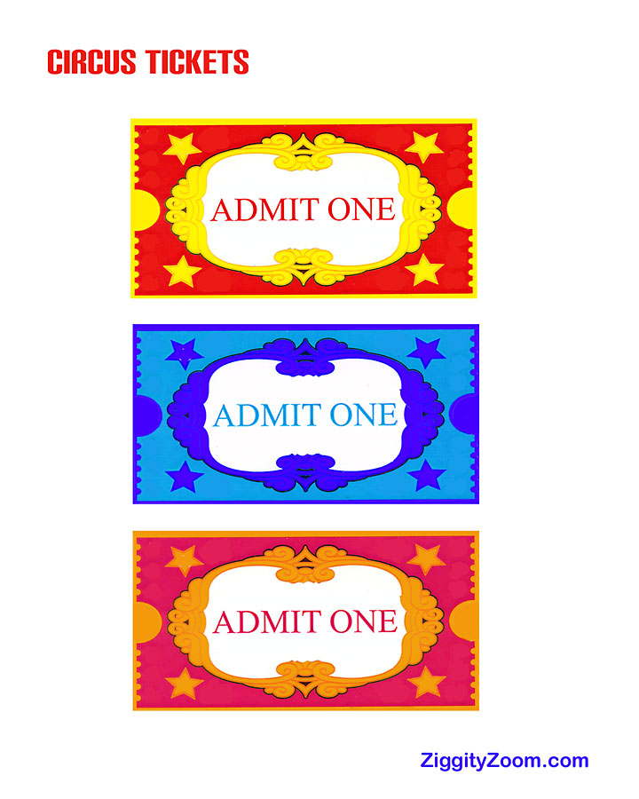 5 Images of Circus Ticket Templates Free Printable