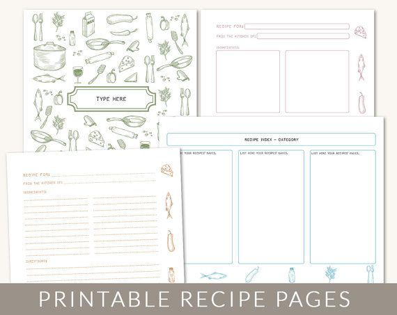 6 best images of printable cookbook templates cookbook for Homemade cookbooks template