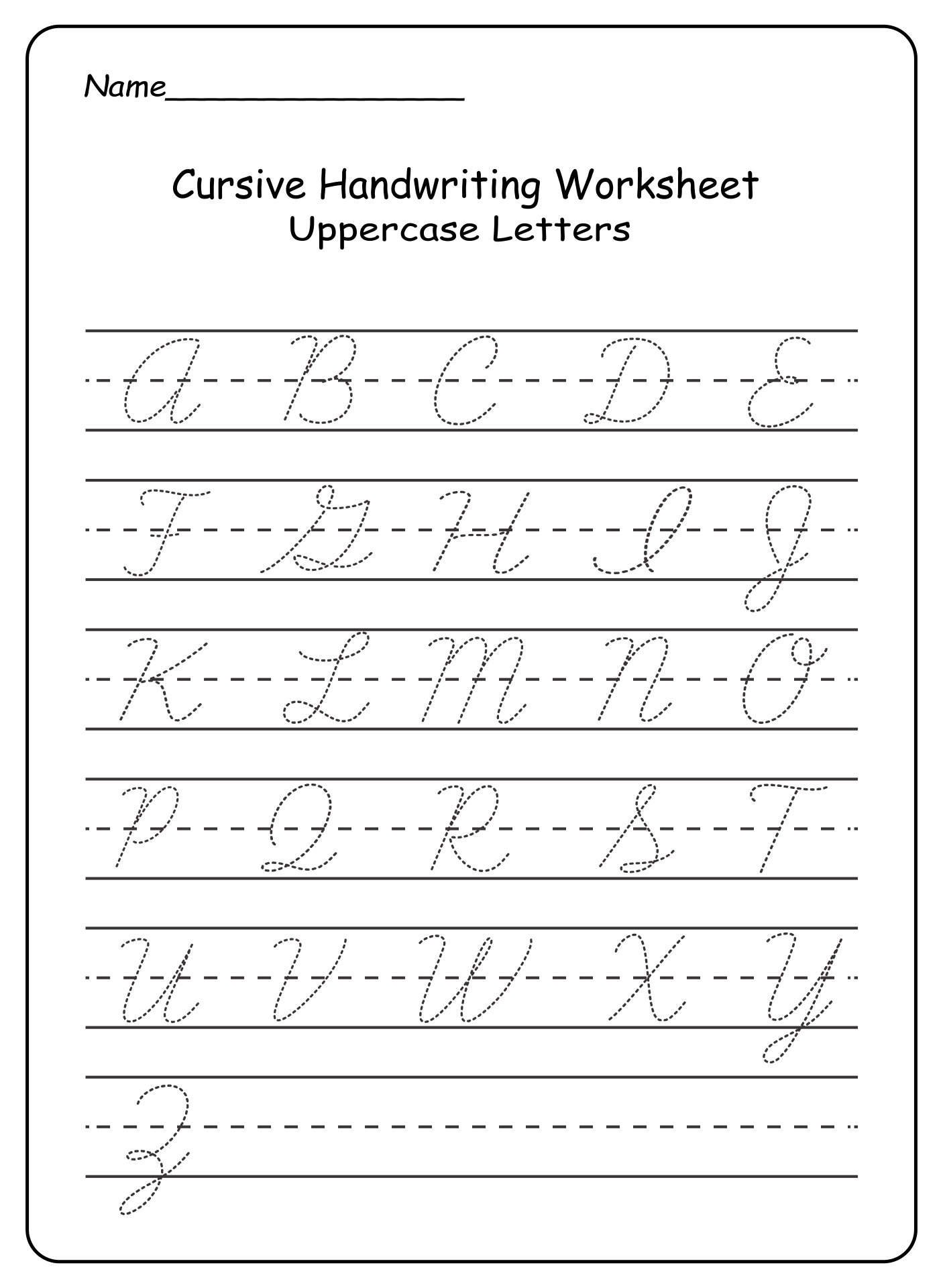 Alphabet Worksheets Az : Free printable alphabet tracing worksheets a z
