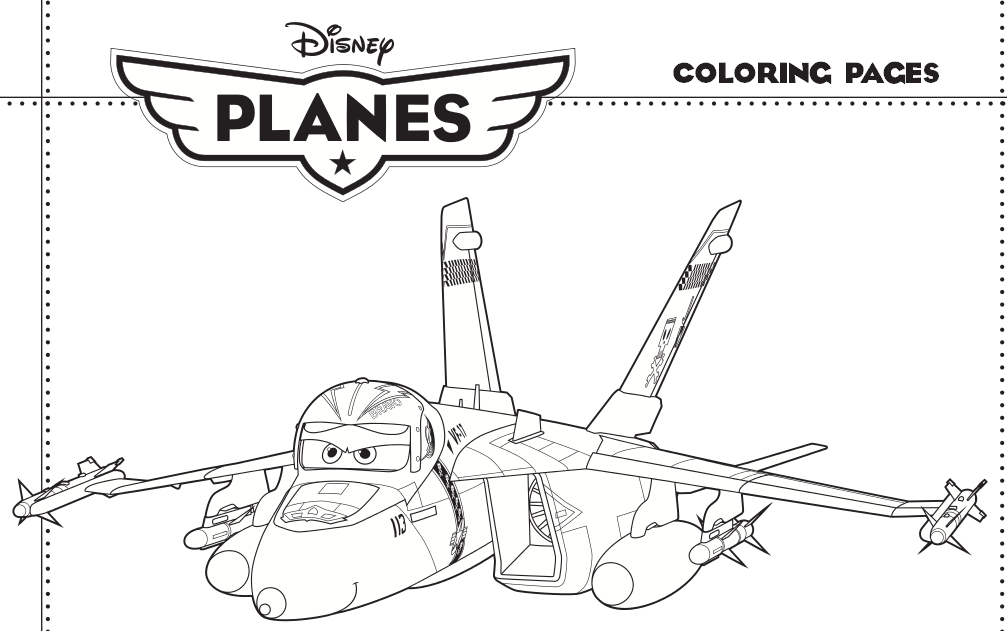 6 Images of Planes Movie Coloring Pages Printable