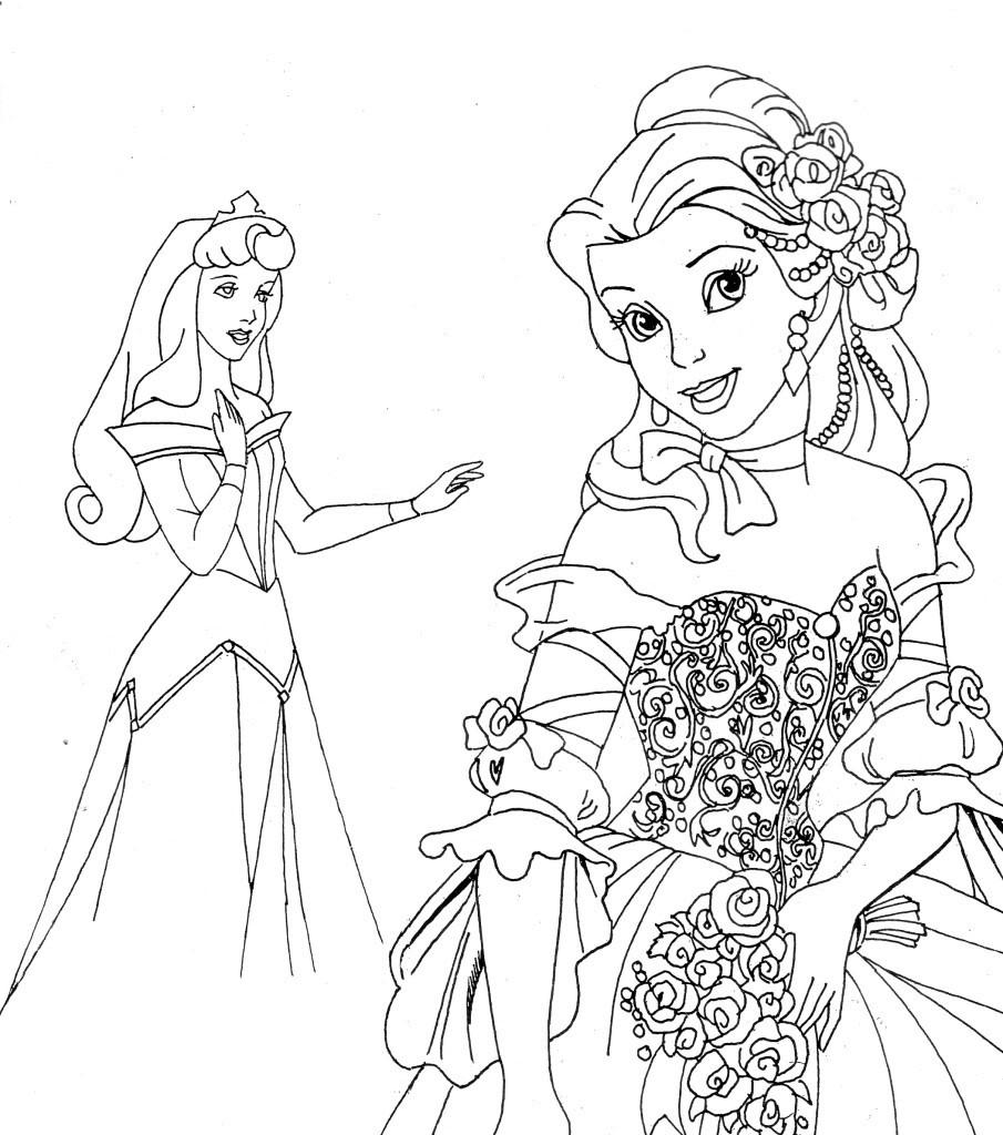 Disney Princess Coloring Page Printables