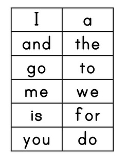 4 Images of Word Wall Cards Printable