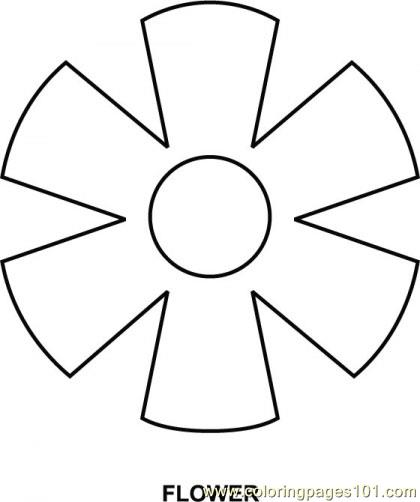Flower Shapes Coloring Pages