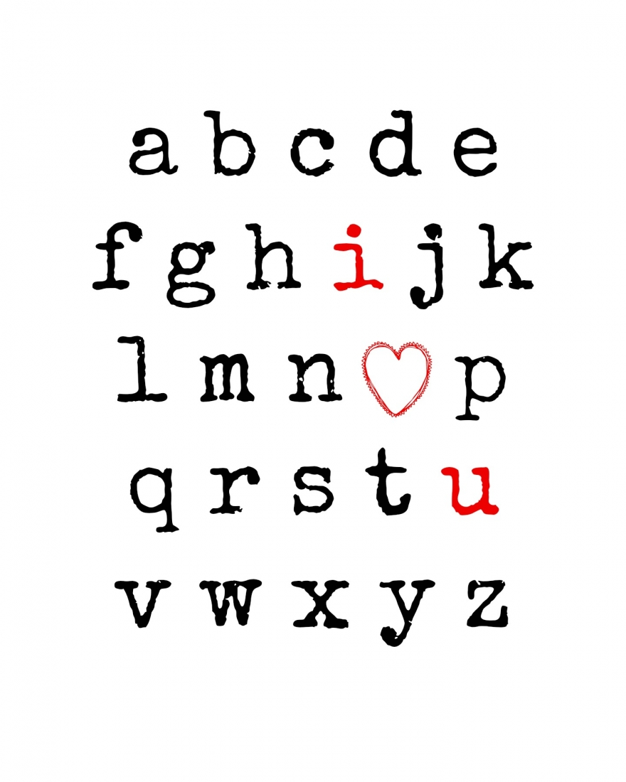 4 Images of Free Printable Letters I Love You