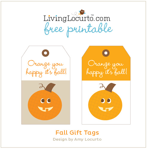 Free Fall Printable Gift Tags