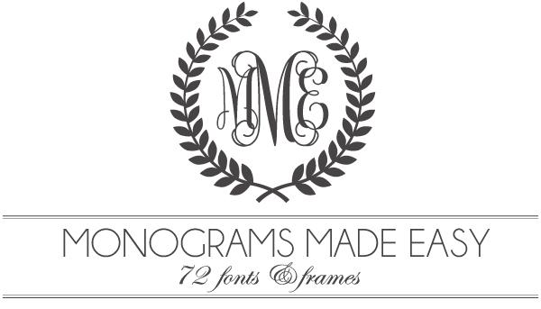 4 Images of Free Printable Monogram Font Downloads