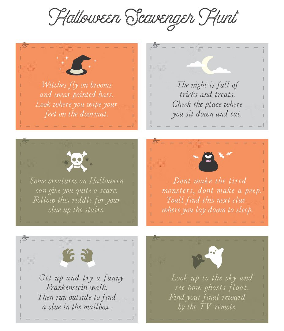 Printable Adult Halloween Games
